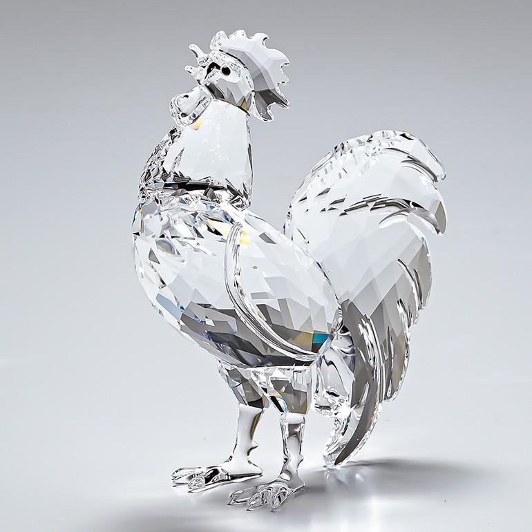 スワロフスキー SWAROVSKI フィギュリン 鶏 Rooster ルースター 鳥 酉 フィギュア オブジェ 置物 5135943