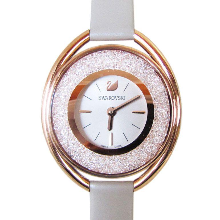 スワロフスキー SWAROVSKI 腕時計 CRYSTALLINE OVAL ROSE GOLD TONE レディース クリスタルライン オーバル ローズゴールド 5158544 母の日