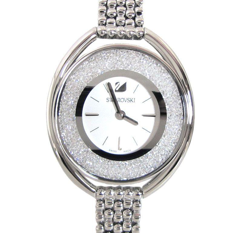 スワロフスキー SWAROVSKI 腕時計 レディース Crystalline Oval White シルバー ブレスレットウォッチ 5181008 母の日