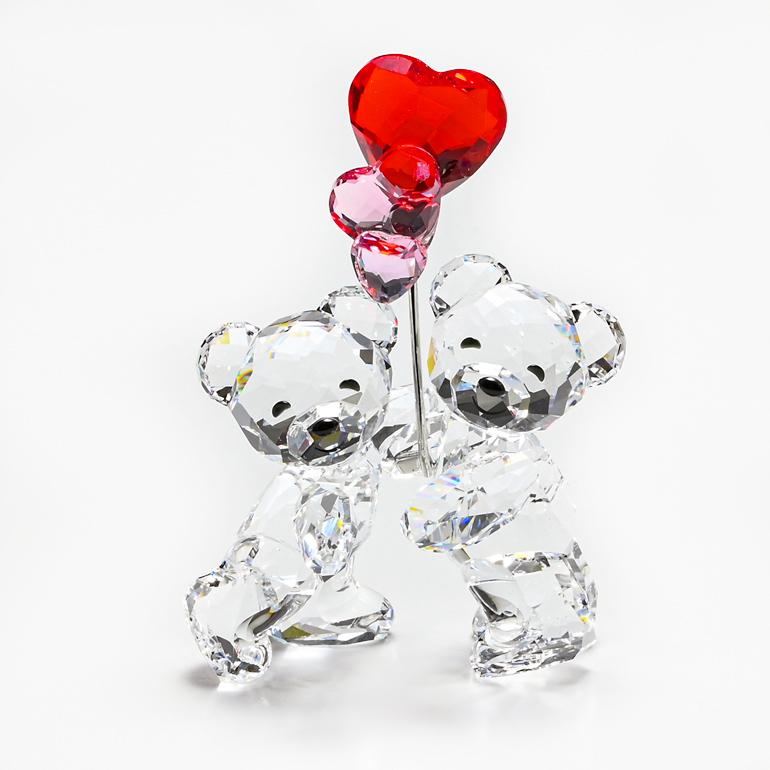 スワロフスキー SWAROVSKI クリスタルフィギュア クリスベア フィギュリン ラブロッツ Kris Heart Balloons 置物 5185778 母の日
