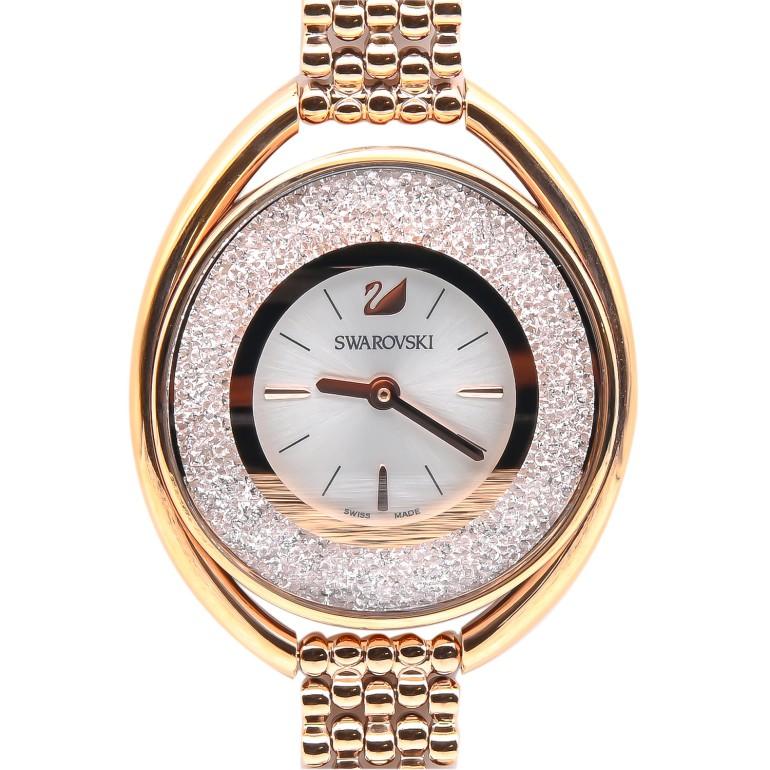 スワロフスキー SWAROVSKI 腕時計 レディース Crystalline Oval Rose Gold Tone ローズゴールド ブレスレットウォッチ 5200341 母の日