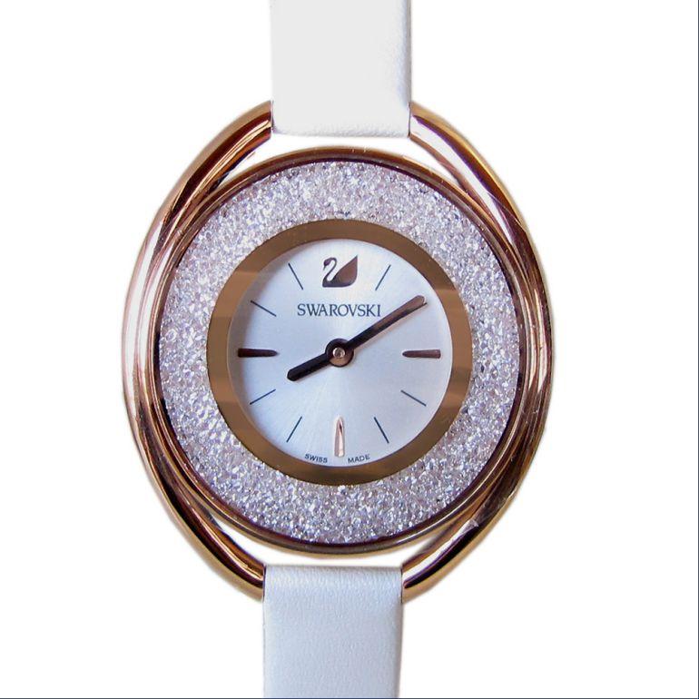 スワロフスキー 腕時計 レディース CRYSTALLINE OVAL ウォッチ クリスタルライン オーバル ローズゴールド ホワイト 5230946 母の日