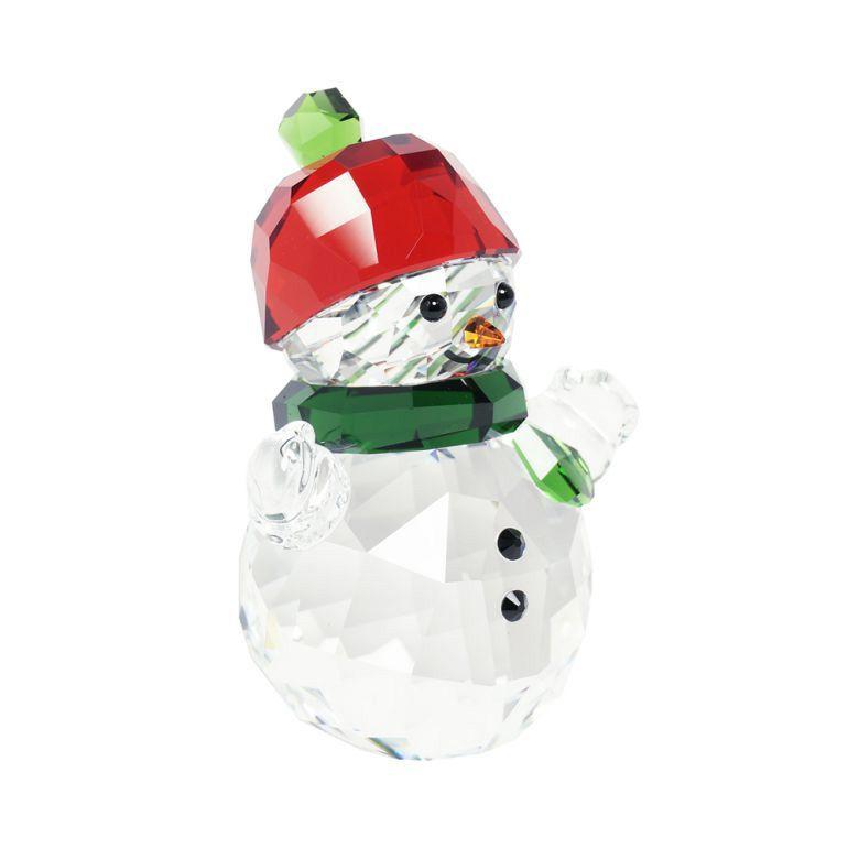 スワロフスキー SWAROVSKI クリスタルフィギュア クリスマス オーナメント スノーマンと赤い帽子 インテリア オブジェ 5288205
