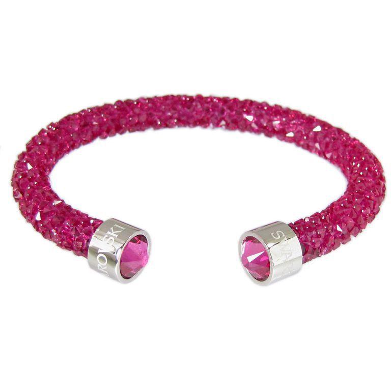 スワロフスキー SWAROVSKI バングル ブレスレット Crystaldust Sサイズ クリスタルダスト フーシャ 5292439