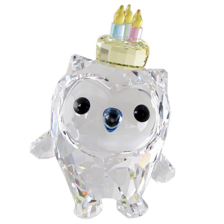 スワロフスキー クリスタルフィギュア Hoot Happy Birthday 誕生日 オブジェ 置物 インテリア 5301581