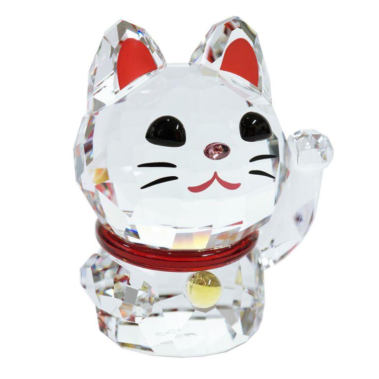 スワロフスキー クリスタルフィギュア 招き猫 Lucky Cat 縁起物 オブジェ 置物 インテリア 5301582 母の日