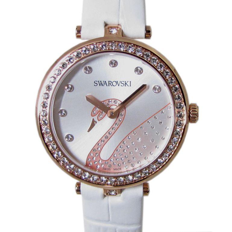スワロフスキー 腕時計 レディース Aila Dressy Lady Swan ウォッチ ホワイト ローズゴールド 5376639 母の日