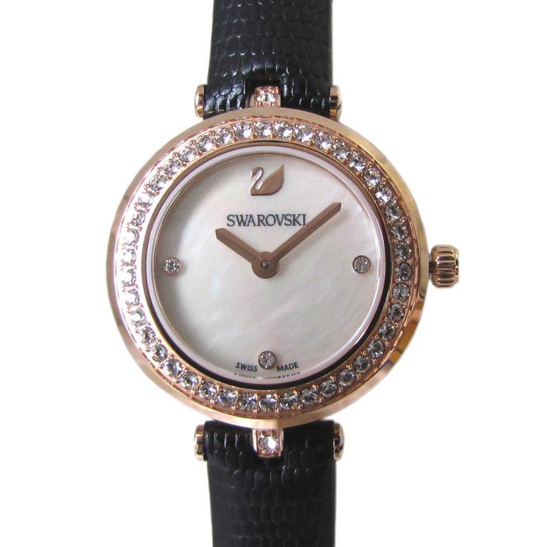スワロフスキー 腕時計 レディース Aila Dressy Mini ウォッチ ブラック ローズゴールド 5376642