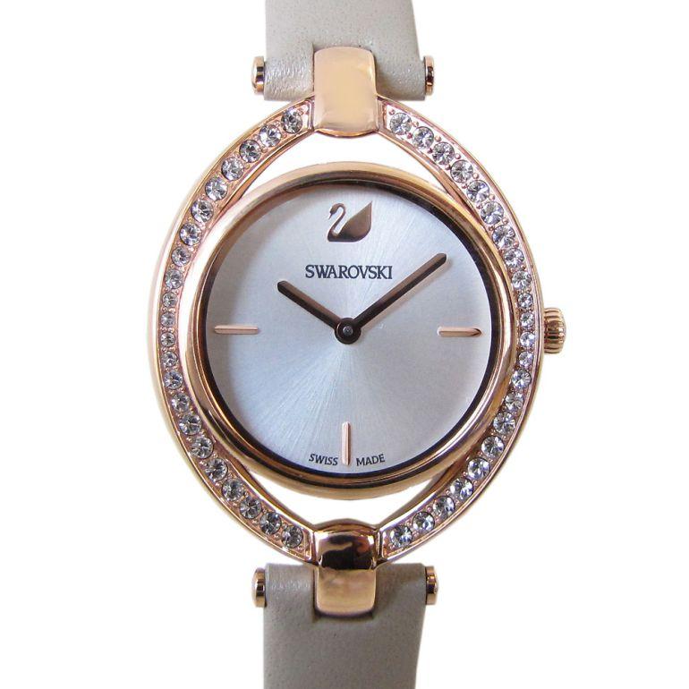 スワロフスキー 腕時計 レディース Stella ウォッチ グレー ローズゴールド 5376830