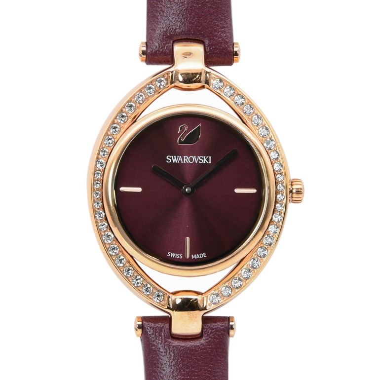 スワロフスキー 腕時計 レディース Stella ウォッチ ワインレッド ローズゴールド 5376839 母の日