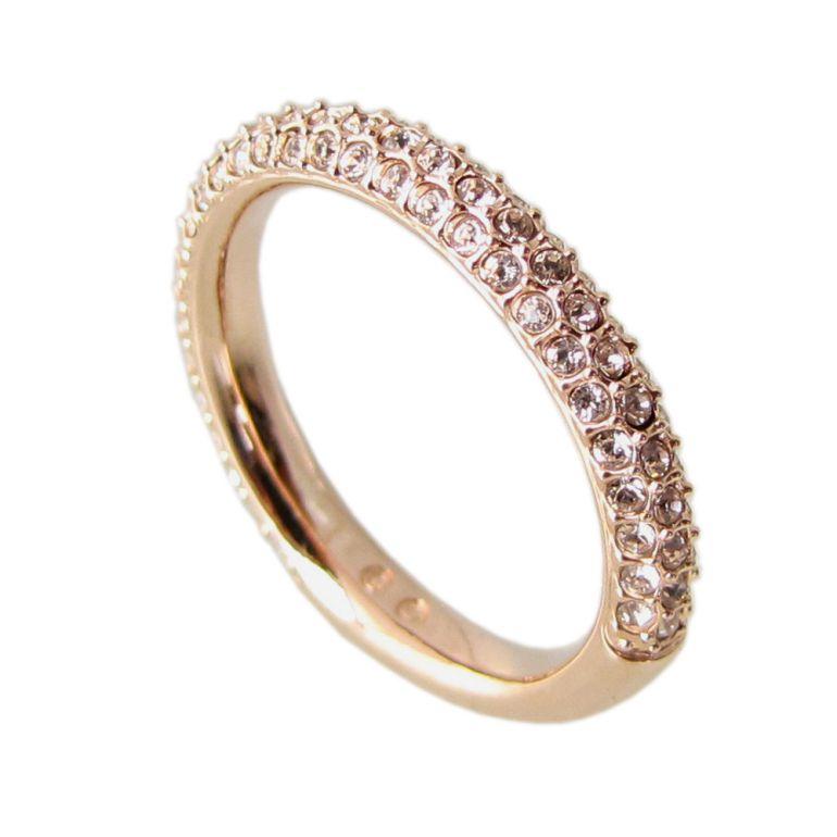スワロフスキー リング レディース 指輪 ストーンミニリング STONE MINI 9号 ローズゴールド 5412022 母の日