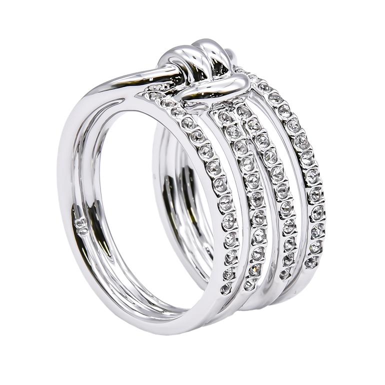 スワロフスキー リング レディース 指輪 ライフロングワイドリング LIFELONG WIDE 9号 シルバー 5412039