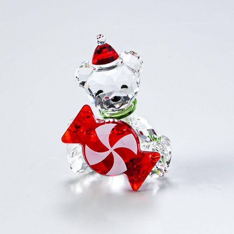 2021年限定 SWAROVSKI フィギュア スワロフスキー 2020新作 クリスタルフィギュア Krisベア 置物 2021年度限定生産品 日本製 5597045 Christmas オブジェ クリスマス