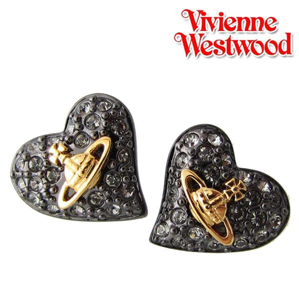 214ac3c99 Vivienne Westwood Vivienne Westwood earrings tiny Diamante heart studs  earring gunmetal