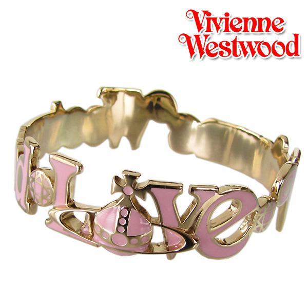ヴィヴィアンウエストウッド ブレスレット バングル ラブオーブバングル イエローゴールド×ローズピンク