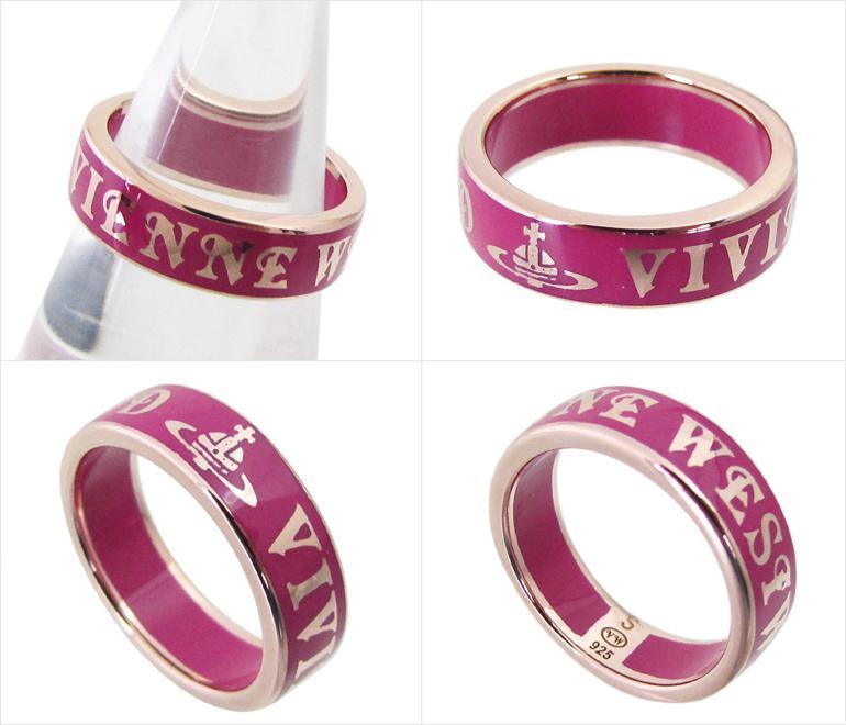 ヴィヴィアンウエストウッド Vivienne Westwood リング 指輪 コンジット ストリート ピンクゴールド×フーシャ 【楽ギフ