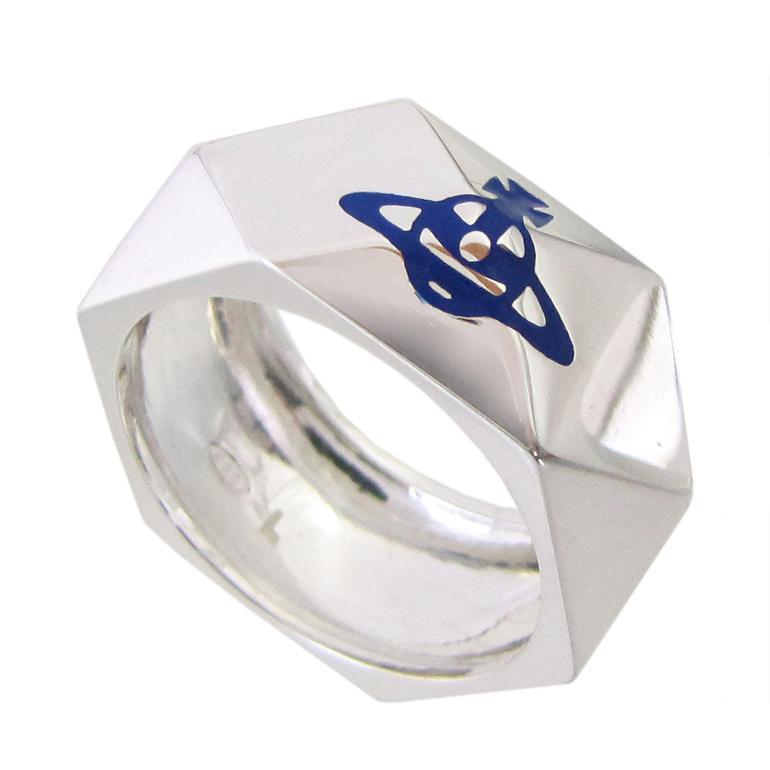 ヴィヴィアンウエストウッド リング 指輪 スタッドリング シルバー×ロイヤルブルー 母の日