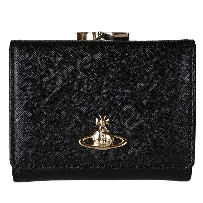Vivienne Westwood 2つ折り財布 ヴィヴィアンウエストウッド 折財布 がま口 ミニ財布 レディース VICTORIA ヴィクトリア 51010018 ブラック