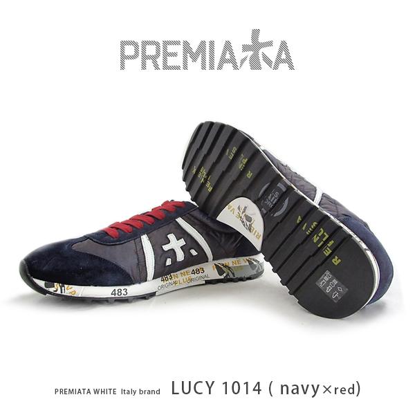 PREMIATA WHITE puremiatahowaito/puremiatahowaitosunika书皮革皮革运动鞋(pre-lucy1014)进口鞋