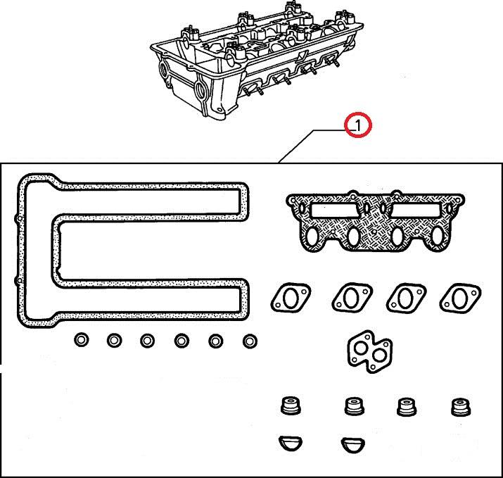 アルファマジック シリンダーヘッドガスケットセット1300~2000(ヘッドガスケット別売) アルファロメオ スパイダー ジュリア ジュニア 105系 115系