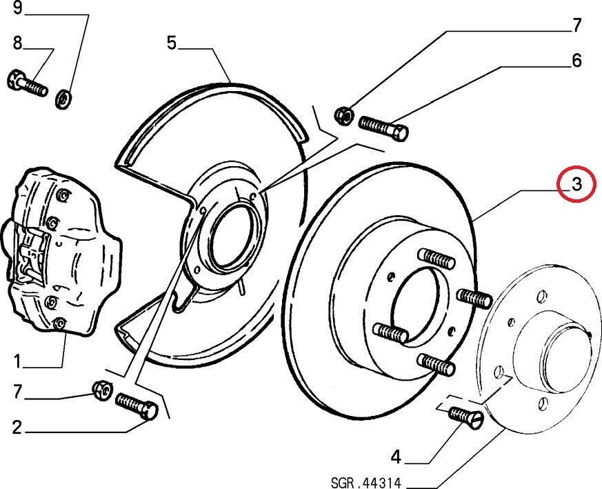 【アルファマジック】フロントブレーキローター ATE用 1750~2000用 アルファロメオ スパイダー ジュリア ジュリアクーペ  SPRINT GT GTV GT junior 105系 115系