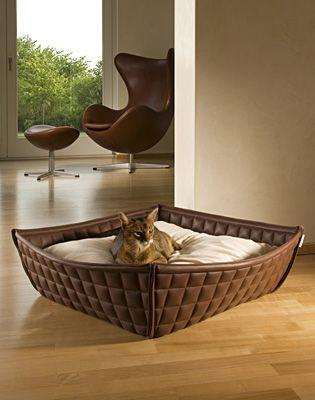 【smtb-s】【送料無料】ドイツ発最高級猫用ベッド【Bowl イミテーションレザー】