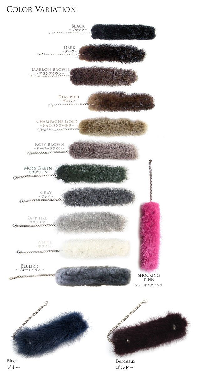 Chic knitted mink fur (fur) glove holders (gloves holder) ■