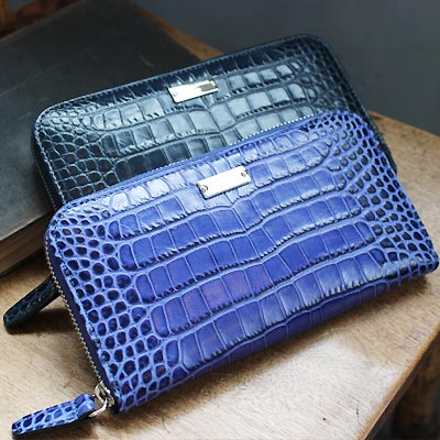 Carrie long wallet Croco Embossed leather version Made in Italy Edition