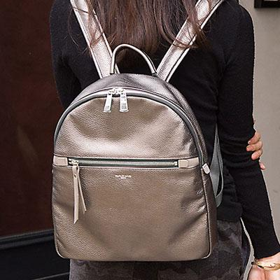 スペリオーレ リュックサック(リュック バックパック) シュリンク型押しレザー 革 鞄 Mサイズ
