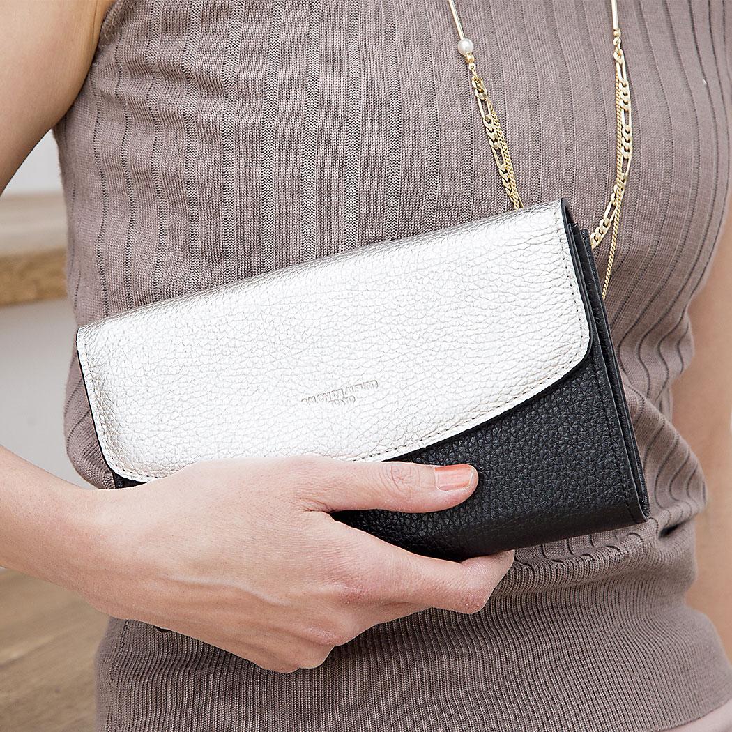 |1201-es 3Way レザー ウォレットバッグ お財布ポシェット