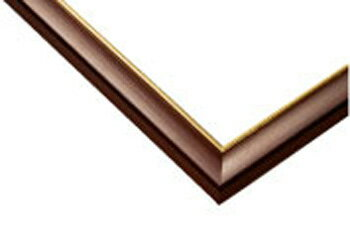 付与 あす楽 フレーム EPP-64-207 ゴールドライン No.7 ラッピング不可 ブラウン 5-B 38×53cm 別倉庫からの配送