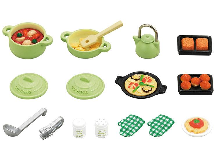 【あす楽】 おもちゃ カ-410 シルバニアファミリー 料理セット[CP-SF] 誕生日 プレゼント 子供 女の子 3歳 4歳 5歳 6歳 ギフト お人形 シルバニア