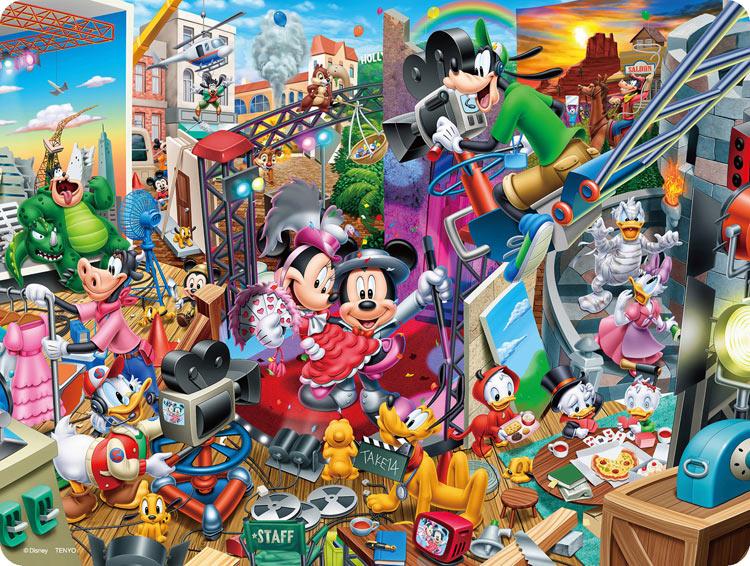 子供用パズル TEN-DL99-698 ディズニー ミッキーのムービースタジオ オールキャラクター 送料無料 99ピース パズル Puzzle 子供用 知育玩具 知育パズル 誕生日 知育 ギフト 幼児 プレゼント 誕生日プレゼント 送料無料でお届けします