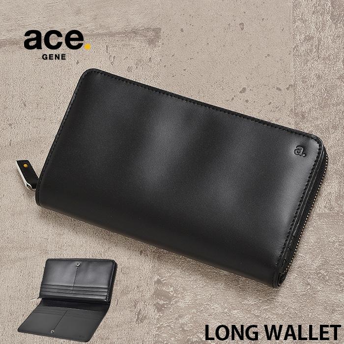 エースジーン 長財布 二つ折り ラウンドファスナー小銭入れ ace.gene デュラビレット 1-35802 メンズ レザー 本革 送料無料