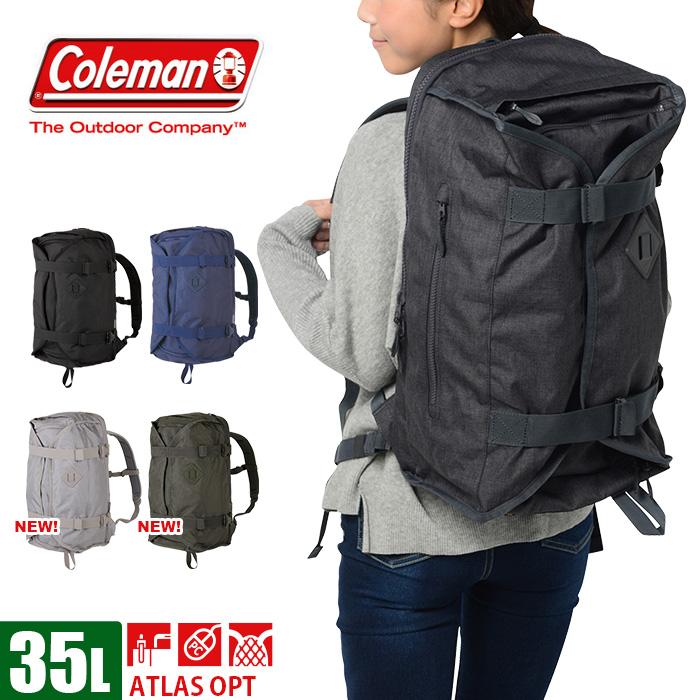 コールマン coleman リュック 大容量 30~35L メンズ 全5色 通学 ATLAS OPT CAT5104