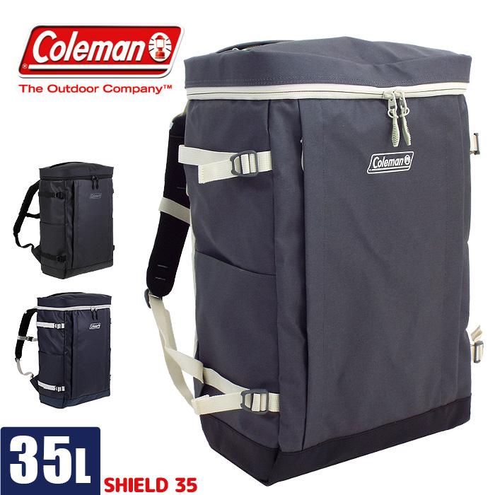 コールマン リュック スクールバッグ 大容量 35L coleman SHIELD csh6021 メンズ レディース 高校生 通学 防水