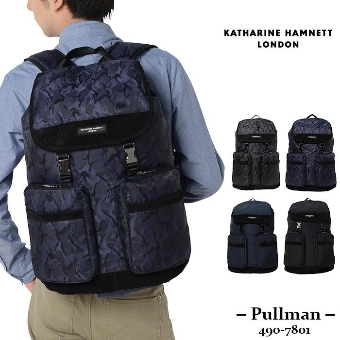 キャサリンハムネット バッグ リュック カブセ型 KATHARINE HAMNETT pullman 490-7801