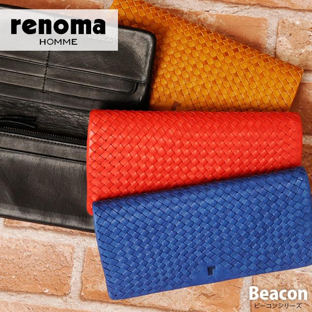 【送料無料】 renoma HOMME[レノマオム] 長財布 507605 【メンズ】【革】【あす楽対応】