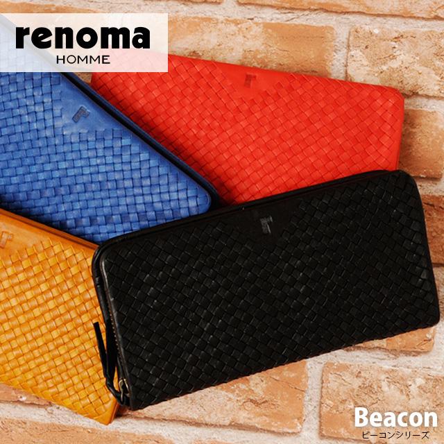 【送料無料】 renoma HOMME[レノマオム] ラウンドファスナー 長財布 507606 【メンズ】【革】【あす楽対応】
