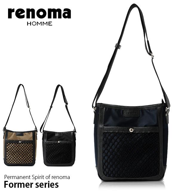 renoma HOMME レノマオム ショルダーバッグ メンズ 全3色 斜めがけ 510101
