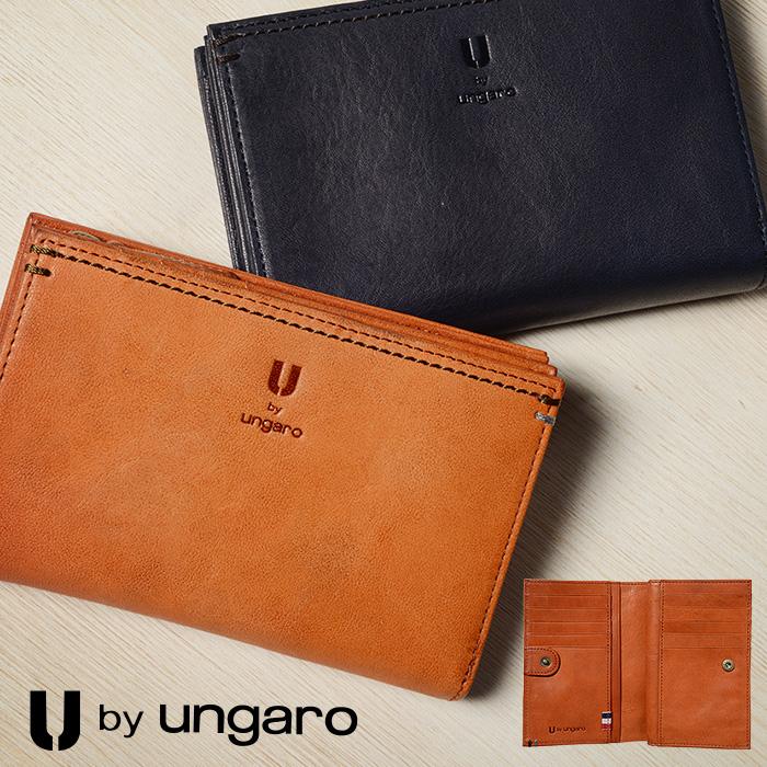 ウンガロ 二つ折り財布 縦型 メンズ U by ungaro ラグジュアリー 革 レザー 210-28002