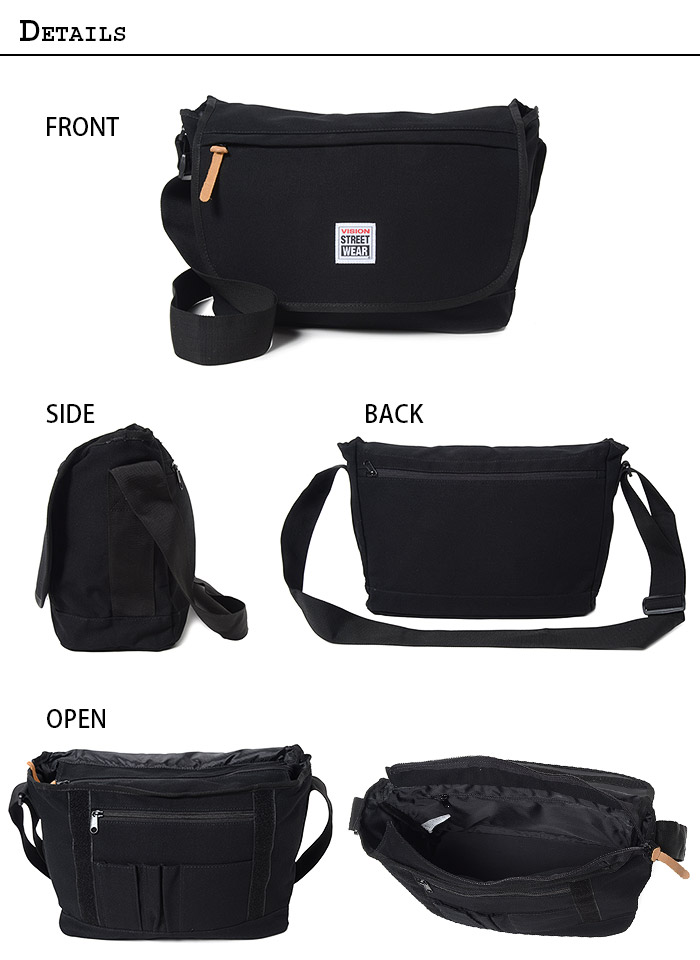 26820a56b288b VISION STREET WEAR [vision streetwear] shoulder bag / messenger bag 9708