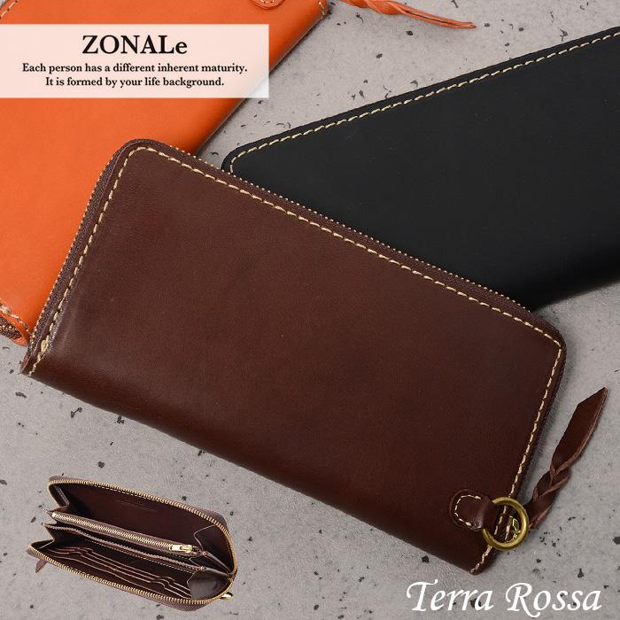 ゾナール テラロッサ 長財布 ラウンドファスナー ZONALe 31046 メンズ 財布 革 イタリアンレザー あす楽対応 父の日ギフト