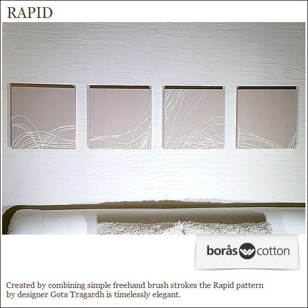boras RAPIDファブリックパネル30×30×2.5cm4setベージュ復刻版限定品ボロスコットンインテリアパネル/ラピッド 軽量厚型設計