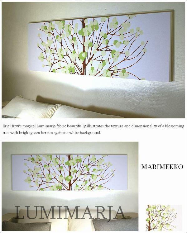패브릭 패널 앨리스 marimekko LUMIMARJAGREEN 140×43 cm그린마리멕코 인기 추천 점포 회장 리빙 LUMIMARJA 루미 Maruya