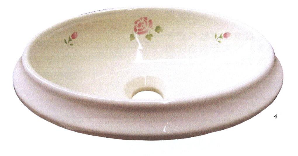■マニーローズ /マニーローズ陶器製 シンクS オーバル 洗面ボウル・【アリスの時間】★