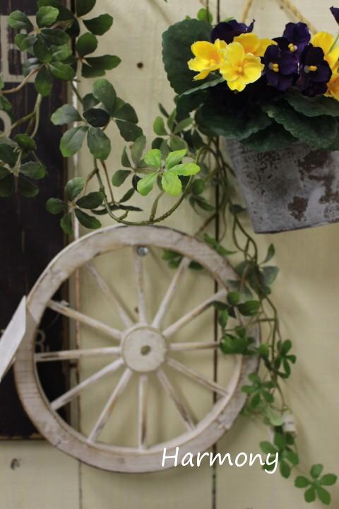 オンライン限定商品 ■アンティークな木製の車輪 購買 ウォールデコレーション ガーデンウィール アンティークホワイトSS 北欧 アリスの時間 車輪 ナチュラル