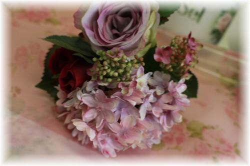 ディスカウント ■薔薇の花のブーケ 思わず触りたくなるゴージャスさ 2月1日入荷 ラベンダー アンジェリックローズブーケ セットアップ アリスの時間