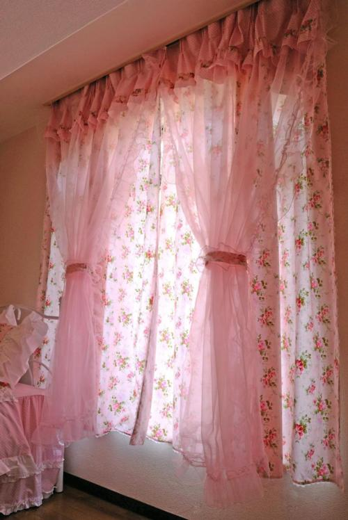 <title>■ 最後の一枚 上品で可愛いカーテン 特価 ローズストーリー ドレープレースカーテン アリスの時間</title>