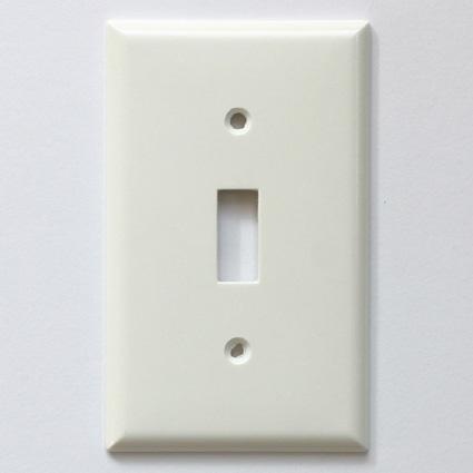 ■プラスチック 1口 価格 スイッチプレート ホワイト メール便OK 5%OFF スイッチプレートホワイト アリスの時間 プラスチック